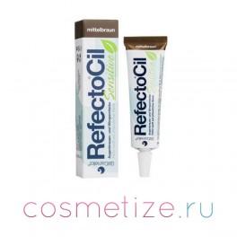 Коричневая краска RefectoCil Sensitive для бровей и ресниц