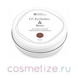 Фото хны для окрашивания ресниц и бровей CC Eyelashes & Brow (brown) в баночке (коричневый) 10 г