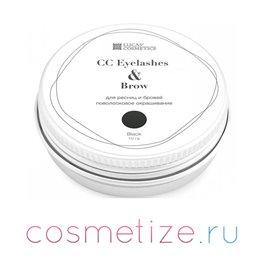 Фото хны для окрашивания ресниц и бровей CC Eyelashes & Brow (black) в баночке (черный) 10 г